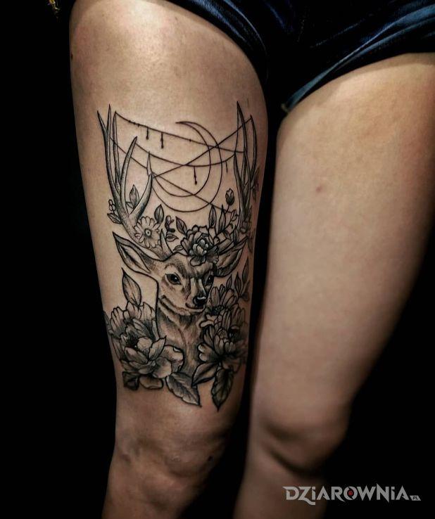 Tatuaż jelonek - zwierzęta