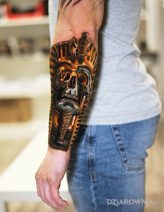 Tatuaż był sobie faraon - czaszki