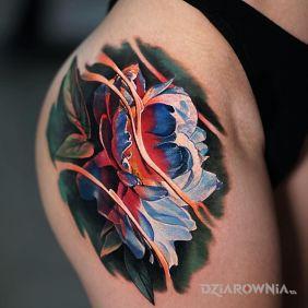 Ultrakolorowy kwiat