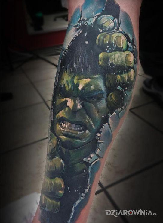 Tatuaż wkurzony hulk - postacie