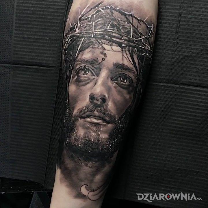 Tatuaż Jezus W Cierniowej Koronie Autor Leon26