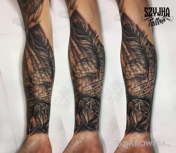 Tatuaż żeglarski motyw - przedmioty