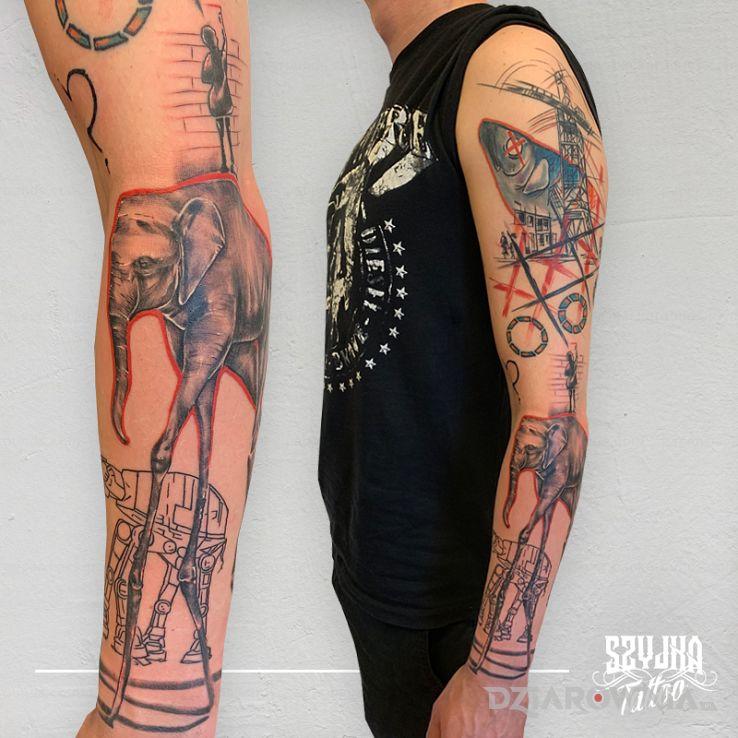 Tatuaż trochę abstrakcji - geometryczne