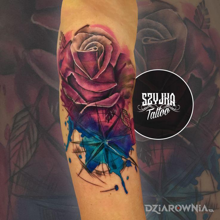Tatuaż watercolor - kolorowe