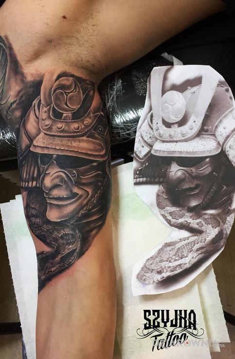 Tatuaż japoński rękaw - demony