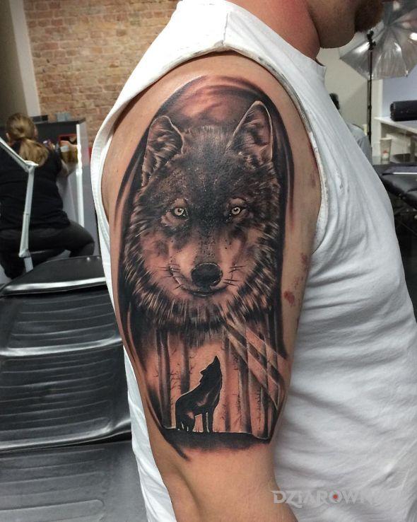 Tatuaż wilk - rękawy