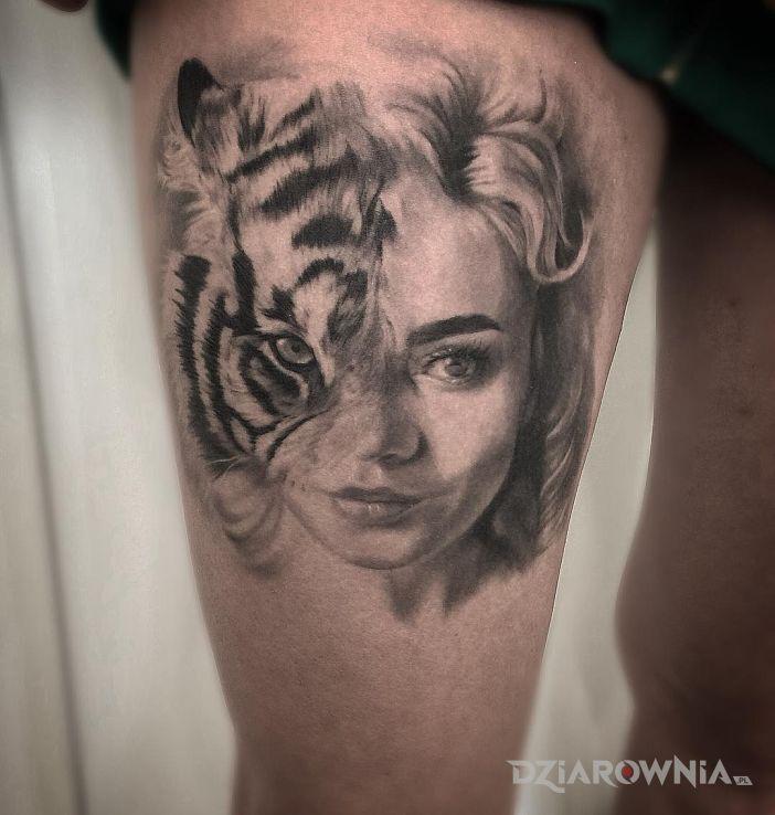 Tatuaż tygrysica - twarze