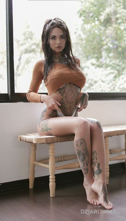 Tatuaż na ławce - seksowne