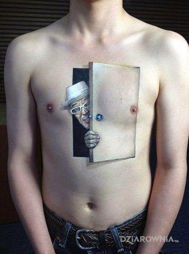Tatuaż ciekawski koleś - 3D