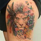 Lwica w kwiatach