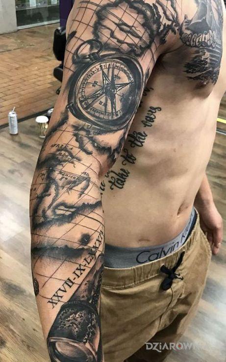 Tatuaż em po mapie - 3D