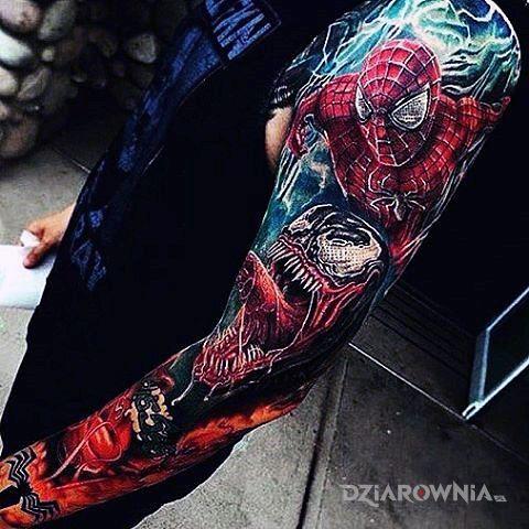 Tatuaż człowiek pająk d - postacie