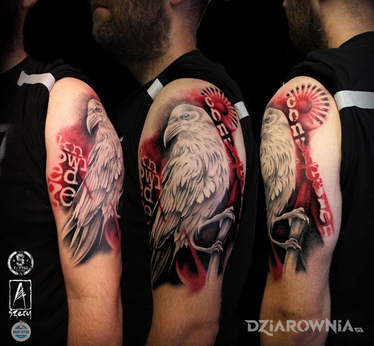 Tatuaż Biały Kruk Autor Szerytattoo Dziarowniapl