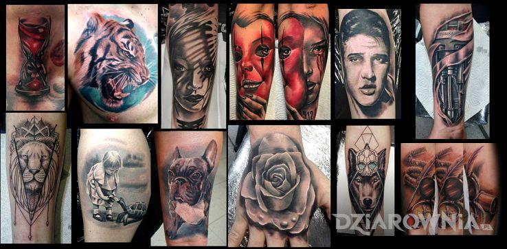 Tatuaż kilka - zwierzęta