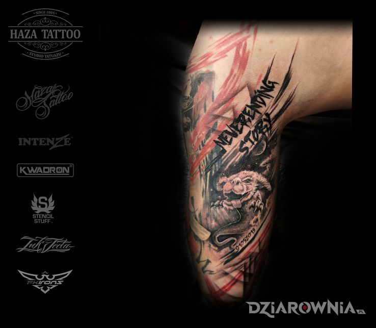 Tatuaż neverending story - napisy