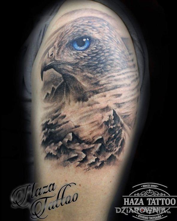 Tatuaż sokół - zwierzęta