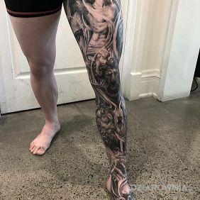 Tatuaże Na łydce Wzory I Galeria Dziarowniapl