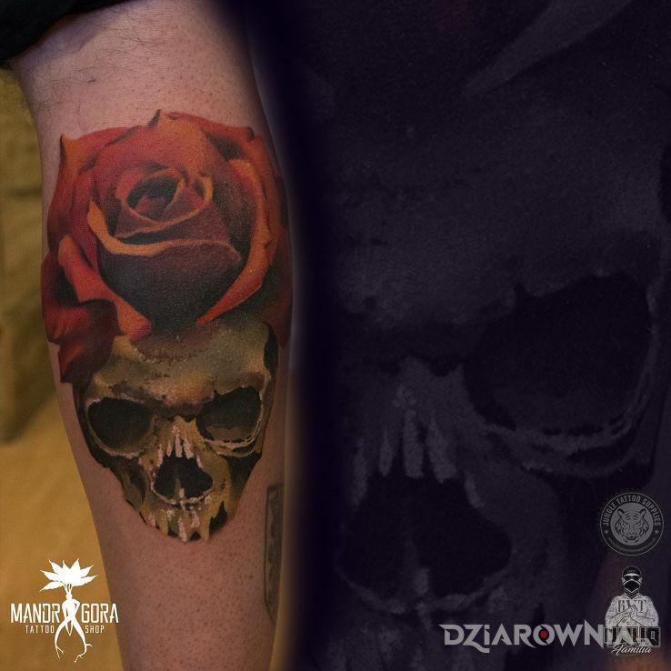 Tatuaż czaszka - kolorowe
