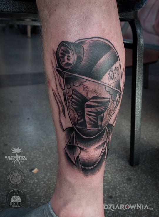 Tatuaż górnik - patriotyczne