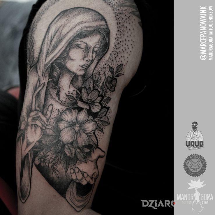 Tatuaż maryja - postacie