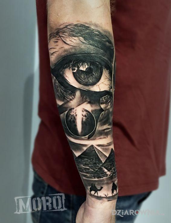 Tatuaż Oko Horusa Egipska Tematyka Egipt Oko Autor Studio