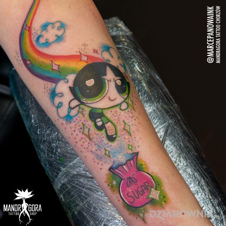 Tatuaż atomówka - kolorowe