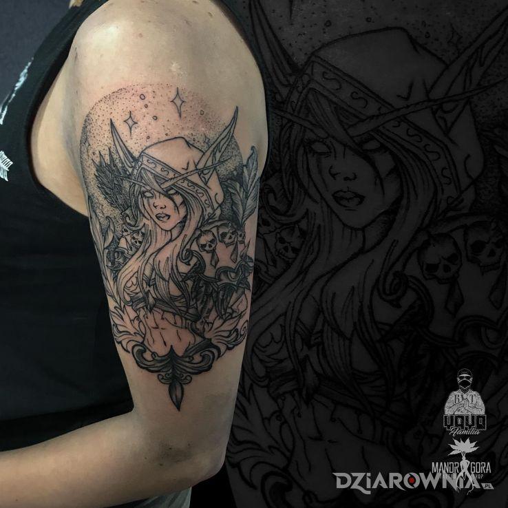Tatuaż sylvanas windrunner - twarze