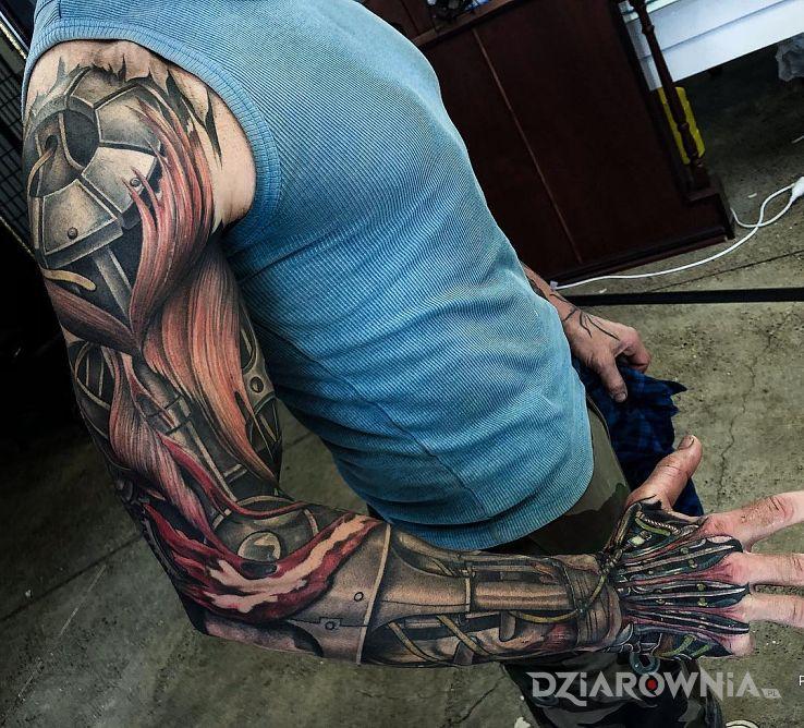 Tatuaż cyborg - rękawy