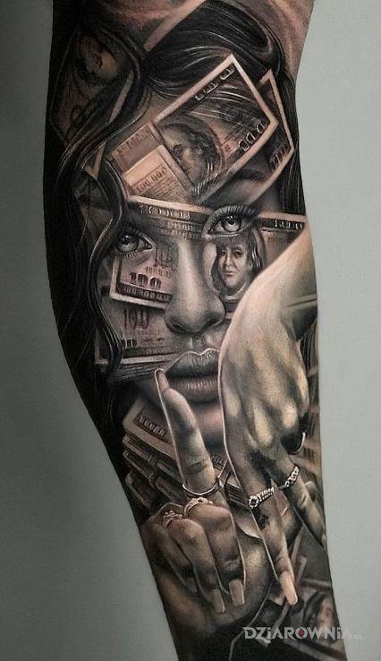 Tatuaż dollars - 3D