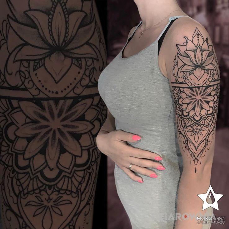 Tatuaż Mandala Autor Mokotusz Dziarowniapl
