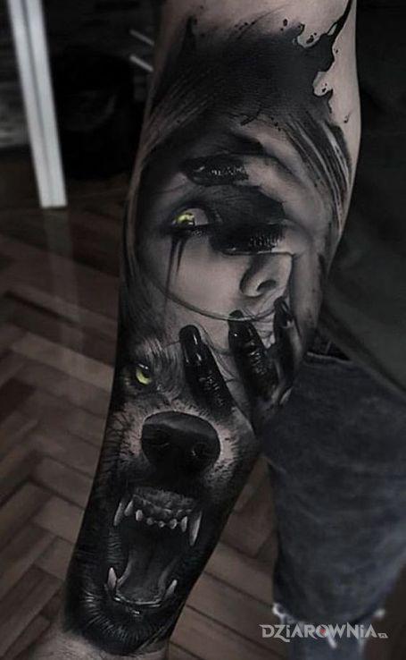 Tatuaż wilczyca - zwierzęta