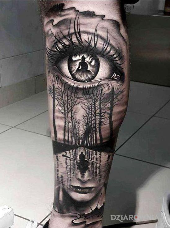 Tatuaż niesamowita wizja - 3D