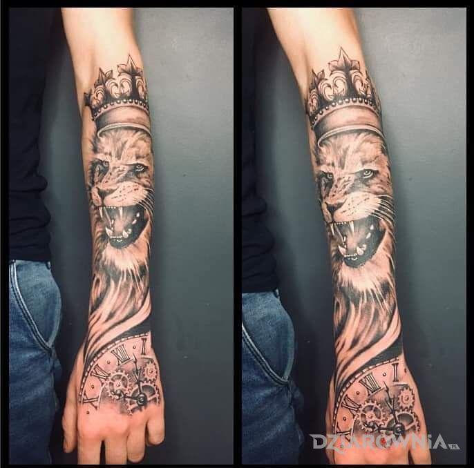 Tatuaż lew - 3D