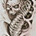Pomysł na tatuaż - Pomysł na tatuaż na bicepsie biomechanika