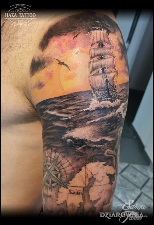 Tatuaż morskie klimaty - 3D