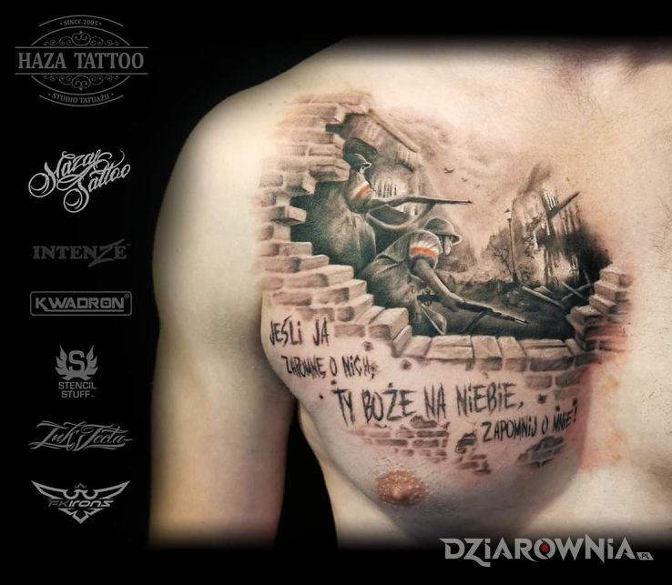Tatuaż polska walcząca - realistyczne