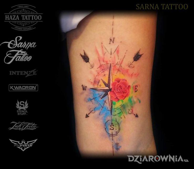 Tatuaż róża wiatrów - pozostałe