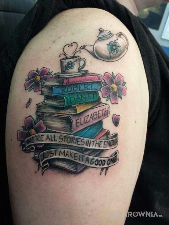 Tatuaż Książki I Przesłanie Autor Jedi Dziarowniapl