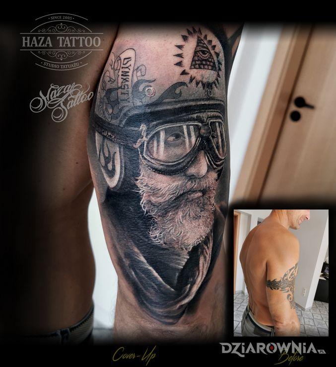 Tatuaż cover moto - twarze