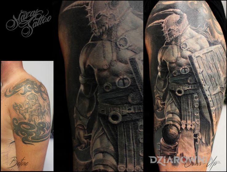 Tatuaż cover wojownik wiking - postacie