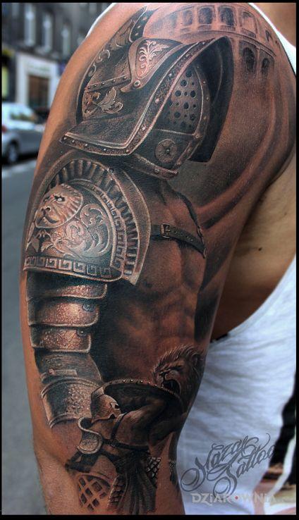 Tatuaż gladiator - postacie
