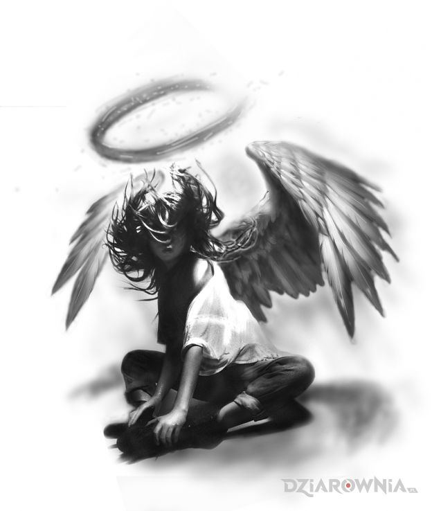 Tatuaż kobieta anioł project - anioły