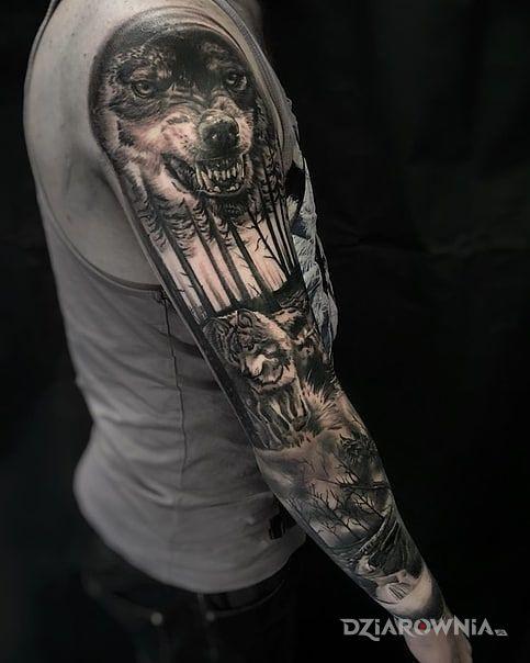 Tatuaż wilkor - realistyczne