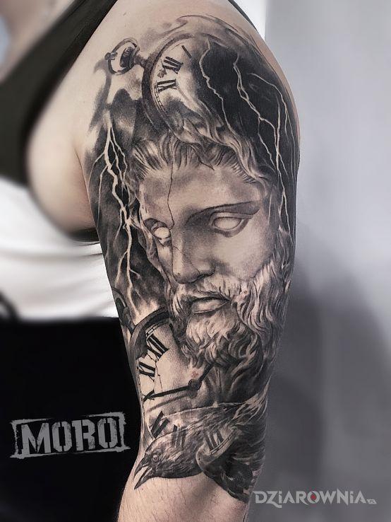 Tatuaż grecki bóg zeus - religijne