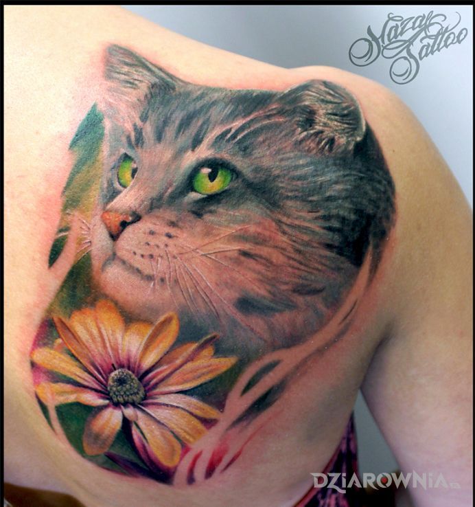 Tatuaż kot kotek koteczek - 3D