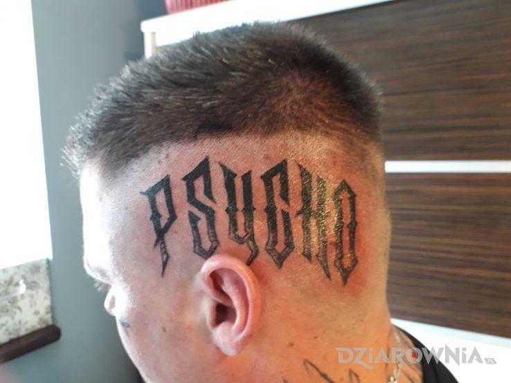 Tatuaż psycho - czarno-szare