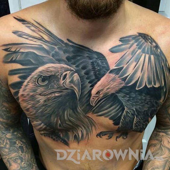 Tatuaż orzeł i jego głowa
