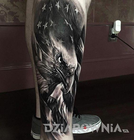 Tatuaż amerykański orzeł