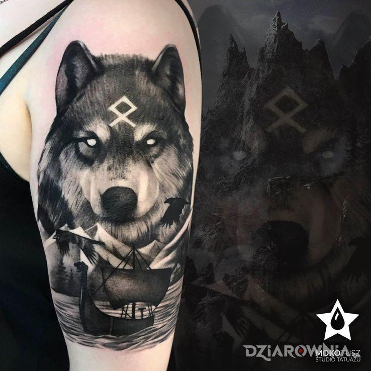 Tatuaż wilk z północy - postacie