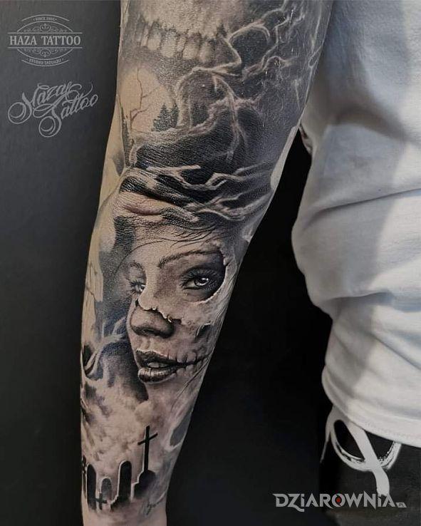 Tatuaż santa muerte - 3D